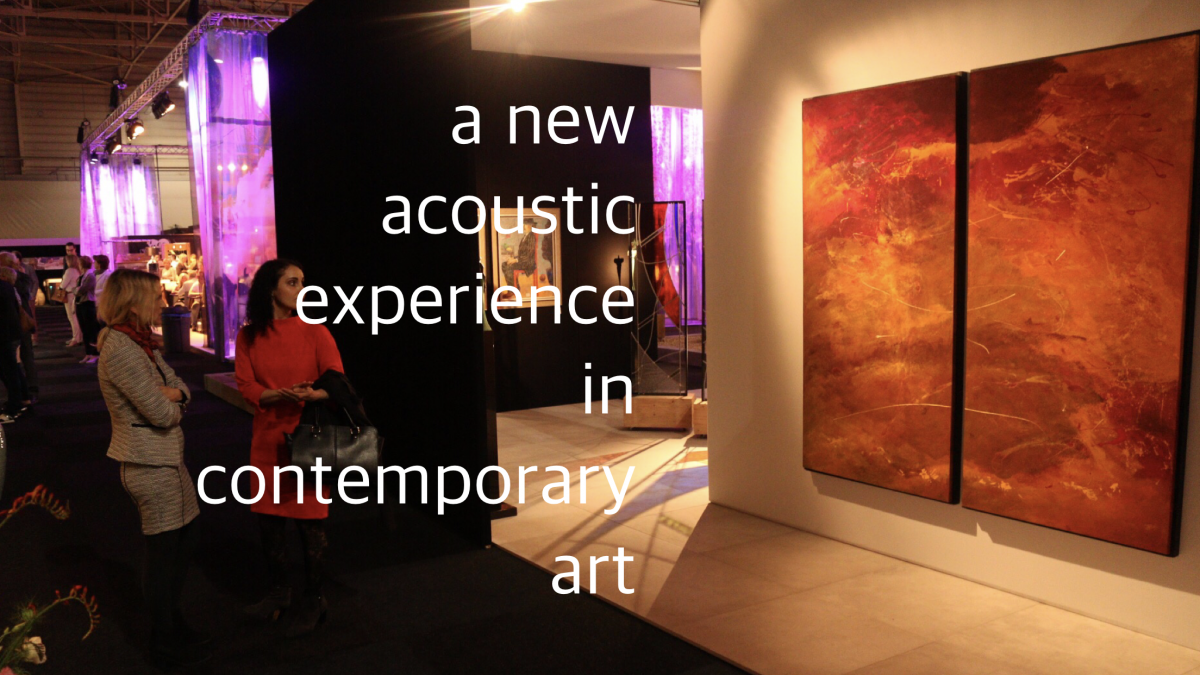 A new acoustic experiment in contemporary art