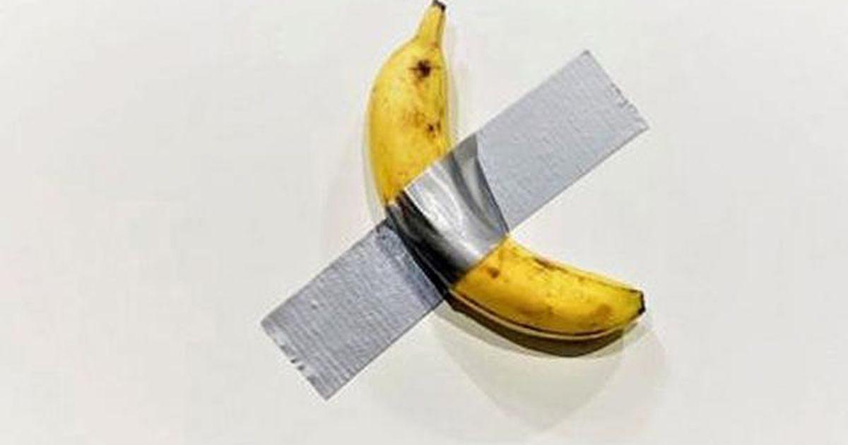 De banaan met ducttape